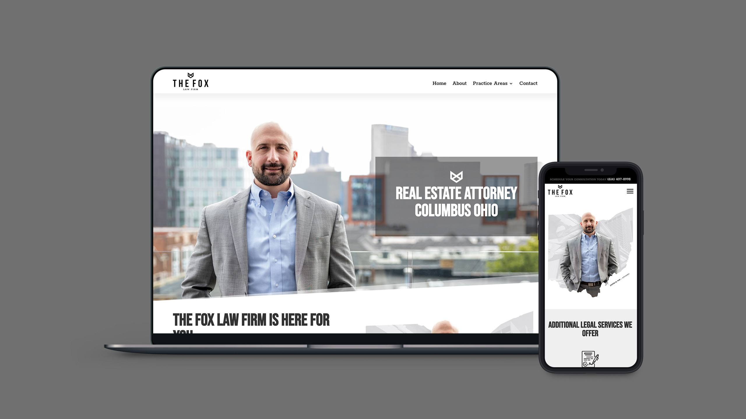 website screenshot for fox law firm